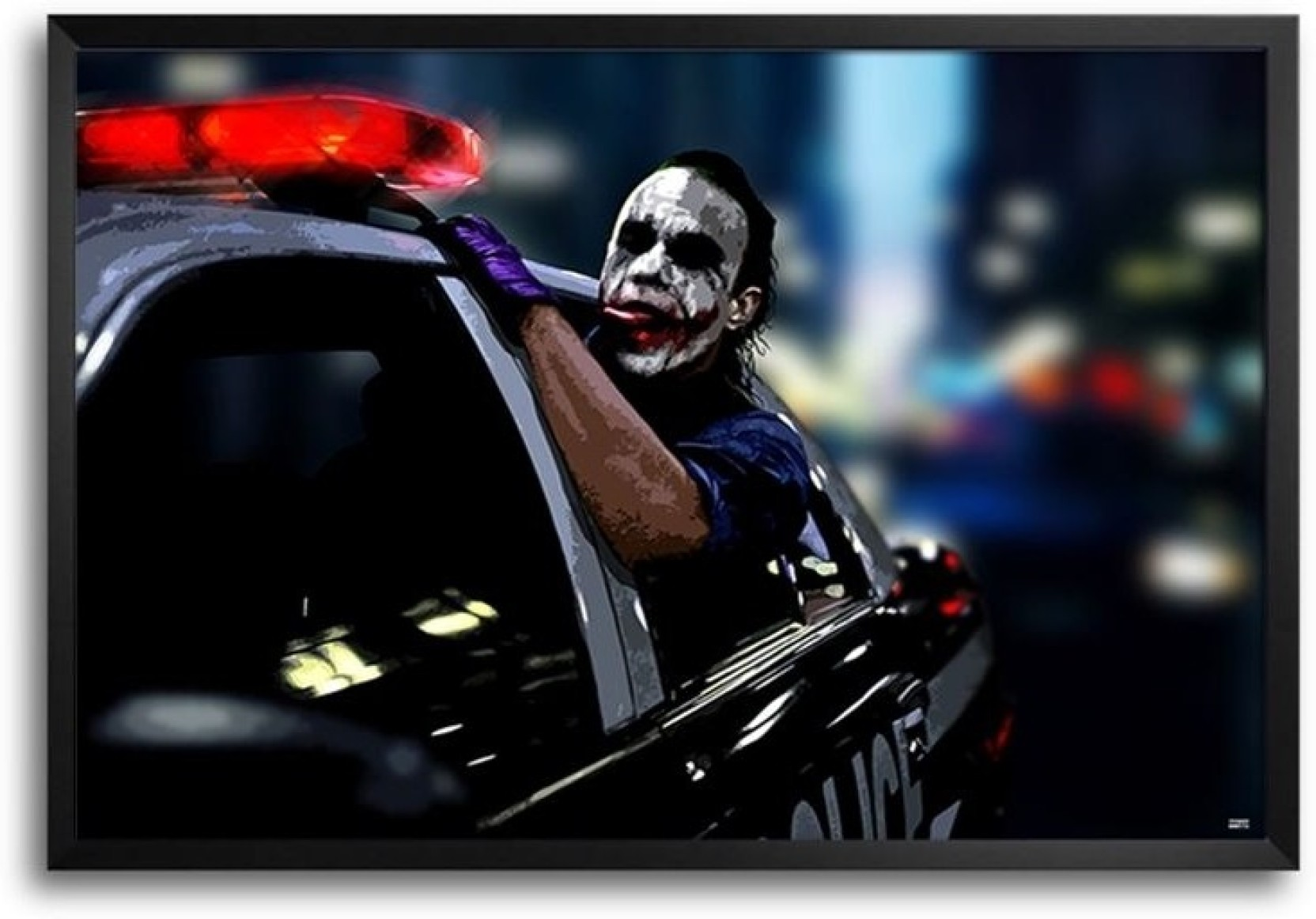 joker police car fp00003758 framed photographic paper