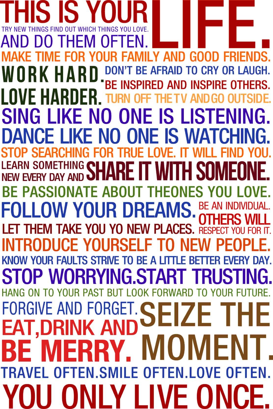 This Is Your Life Quote This Is Your Life Quote Photographic Paper Quotes U0026  Motivation