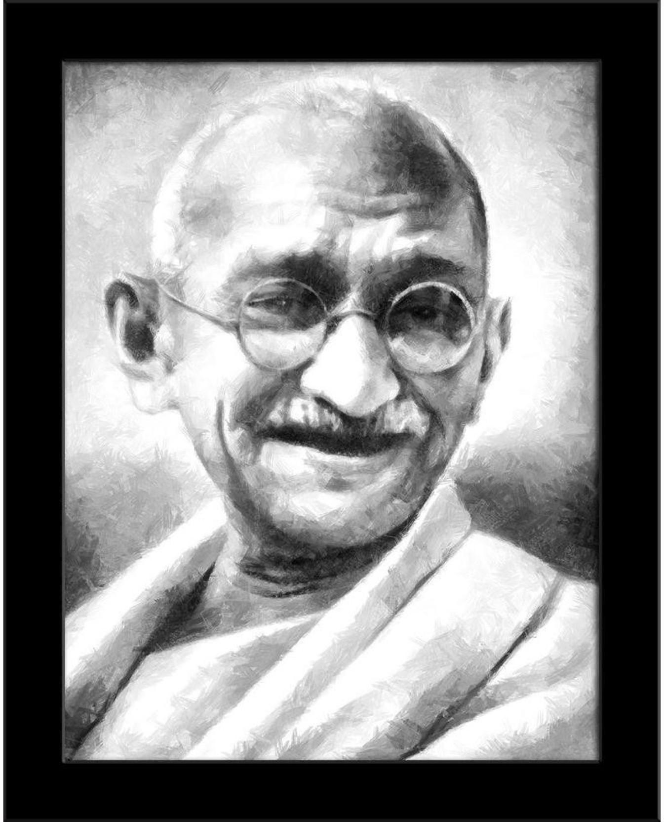 Mahatma gandhi framed art print canvas art on offer