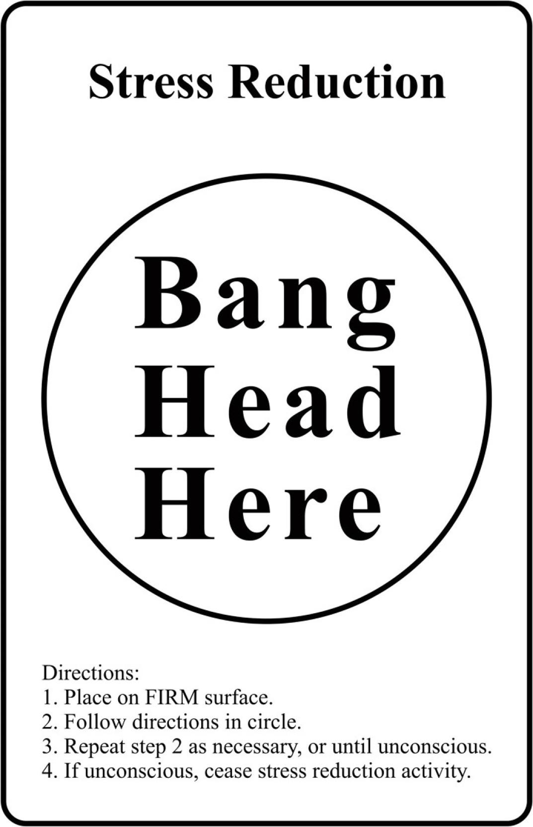Bang Head Here Paper Print Humor Posters In India Buy
