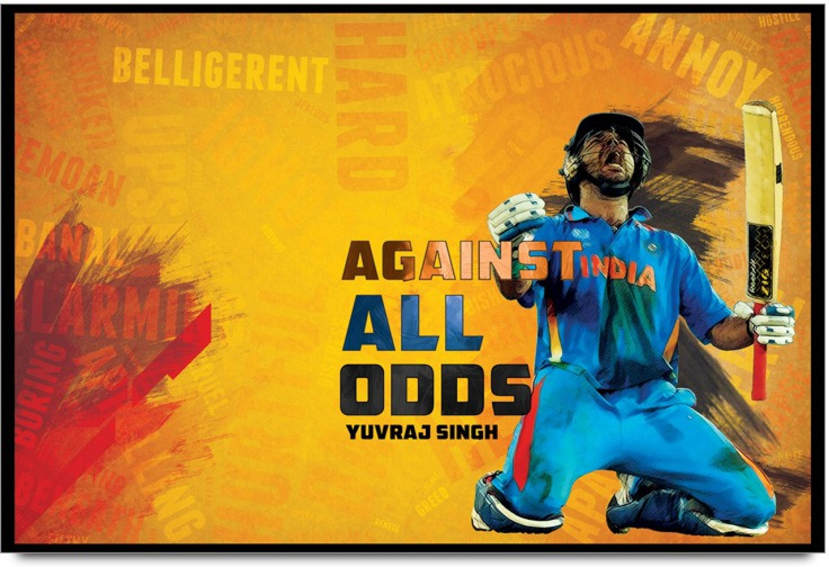ShopMantra Yuvraj Singh Against Odds Paper Print