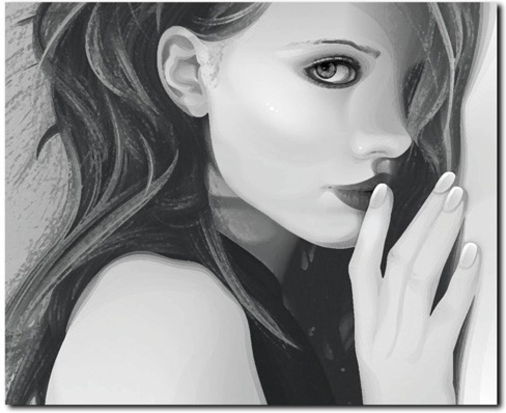 Stybuzz beautiful girl sketch art canvas art add to cart