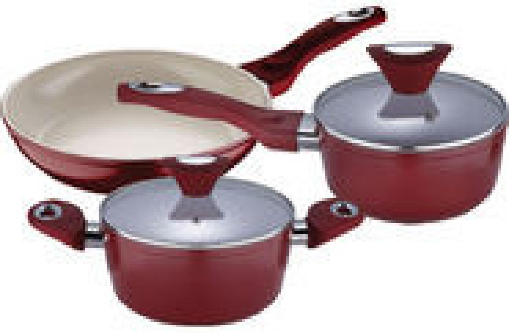 Bergner Ceramic Coated Cookware Set Pot Pan Set Price In