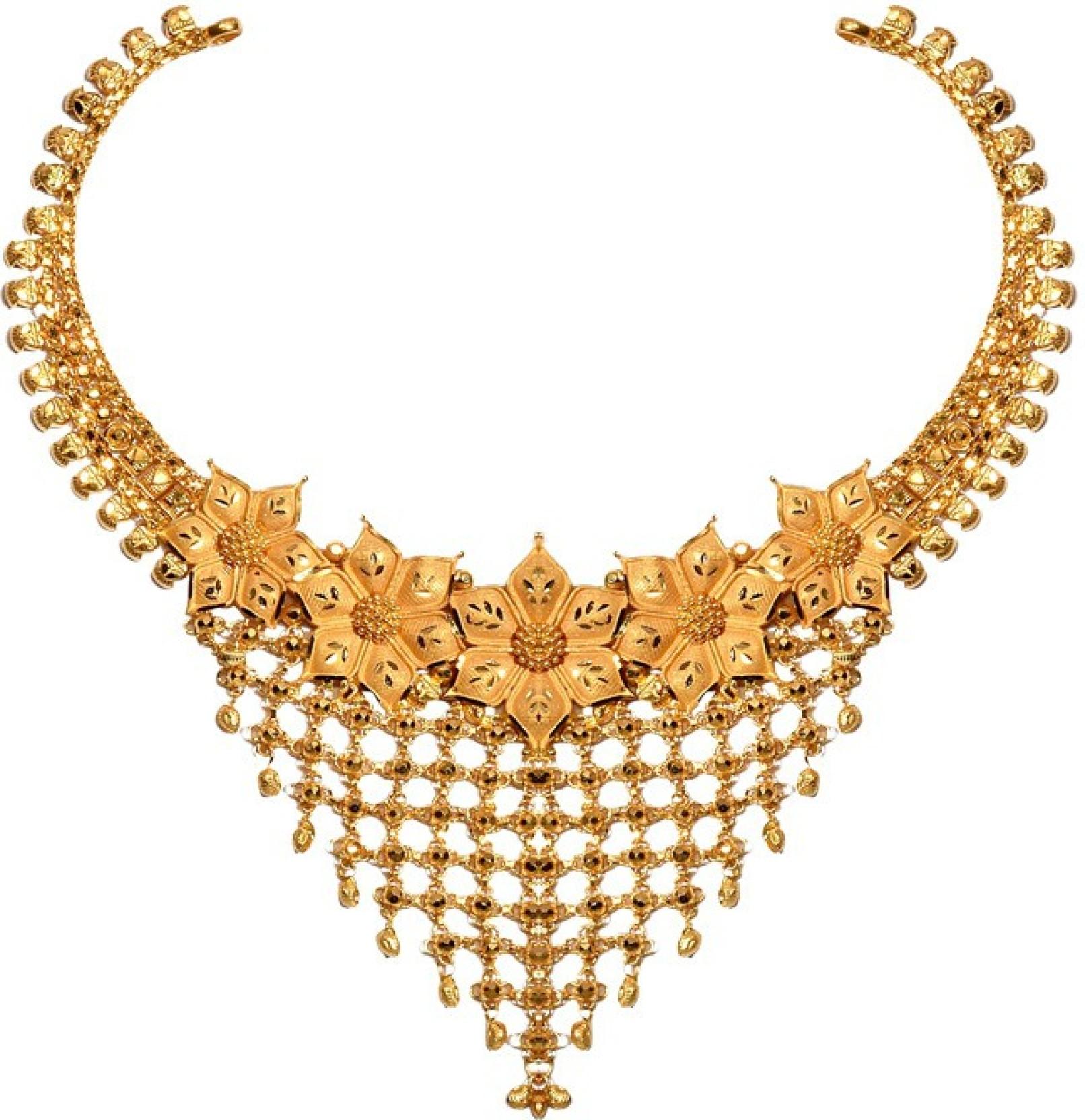 Senco Gold GN002185127 Princess Yellow Gold Precious Necklace ...