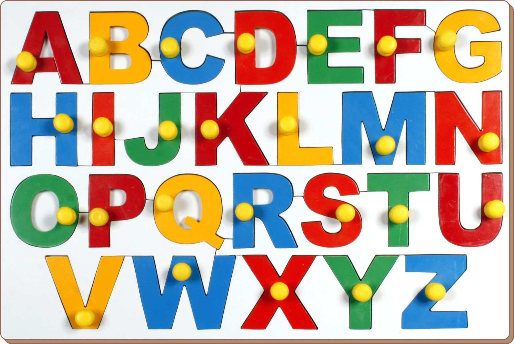 Little Genius Jumbo Alphabets Abc With Big Knobs Puzzle Knob Share