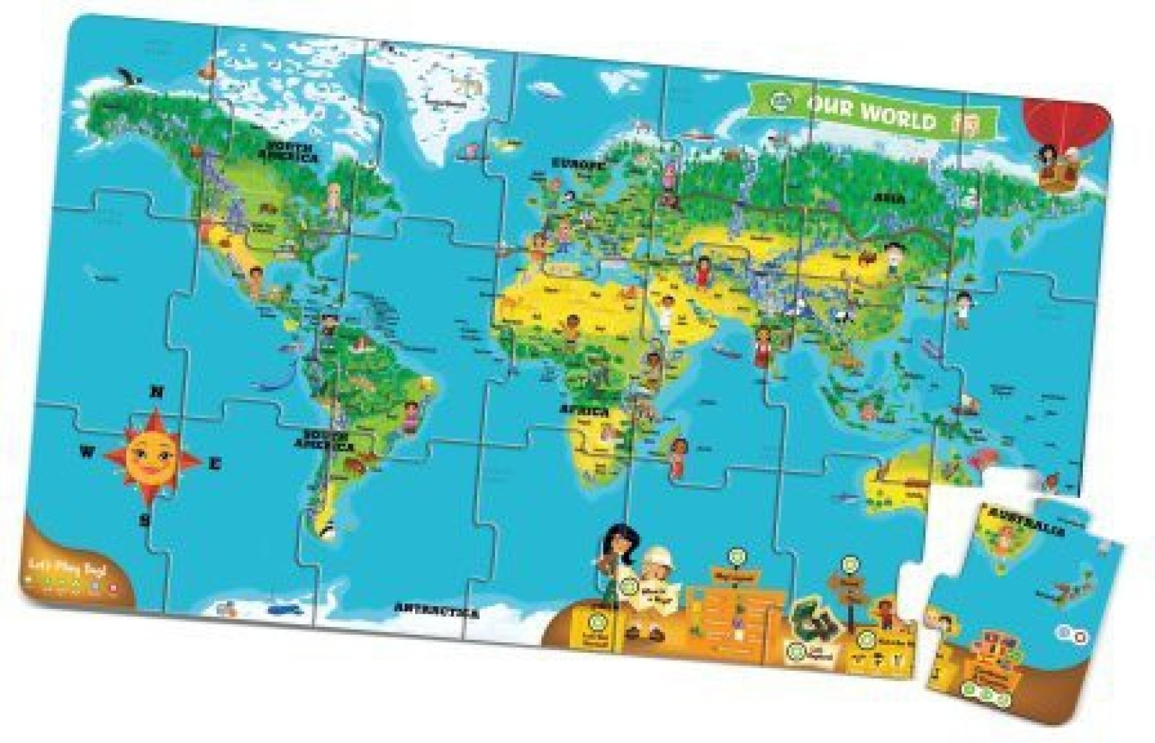 LeapFrog Leapreader Interactive World Map Puzzle (Works With Tag ...