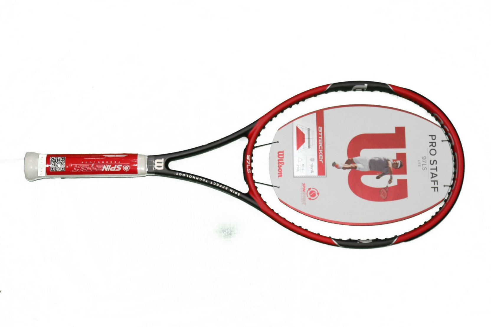 b3ae5aace Wilson Pro Staff 97 LS Lite Red Unstrung Tennis Racquet (G3 - 4 3 8 Inches