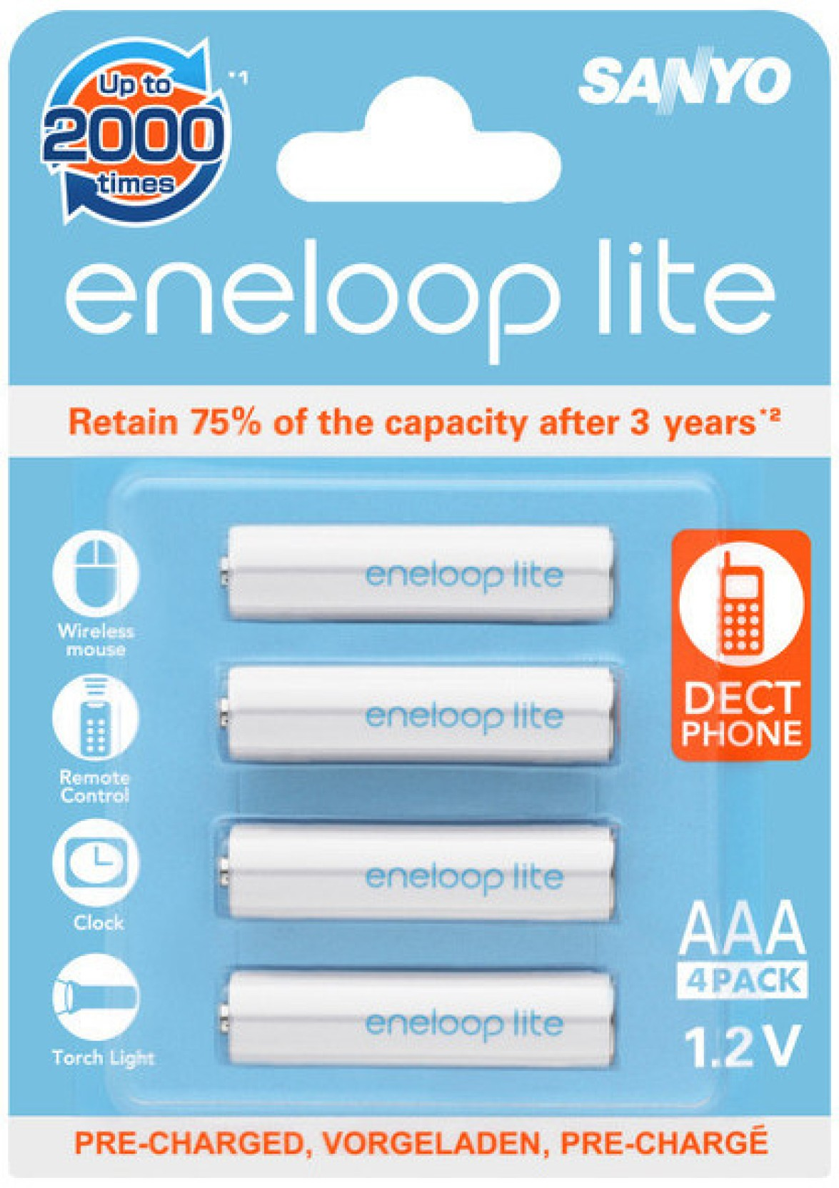Sanyo Eneloop 4hr 4uq Secp C Battery Aa 2pcs Share