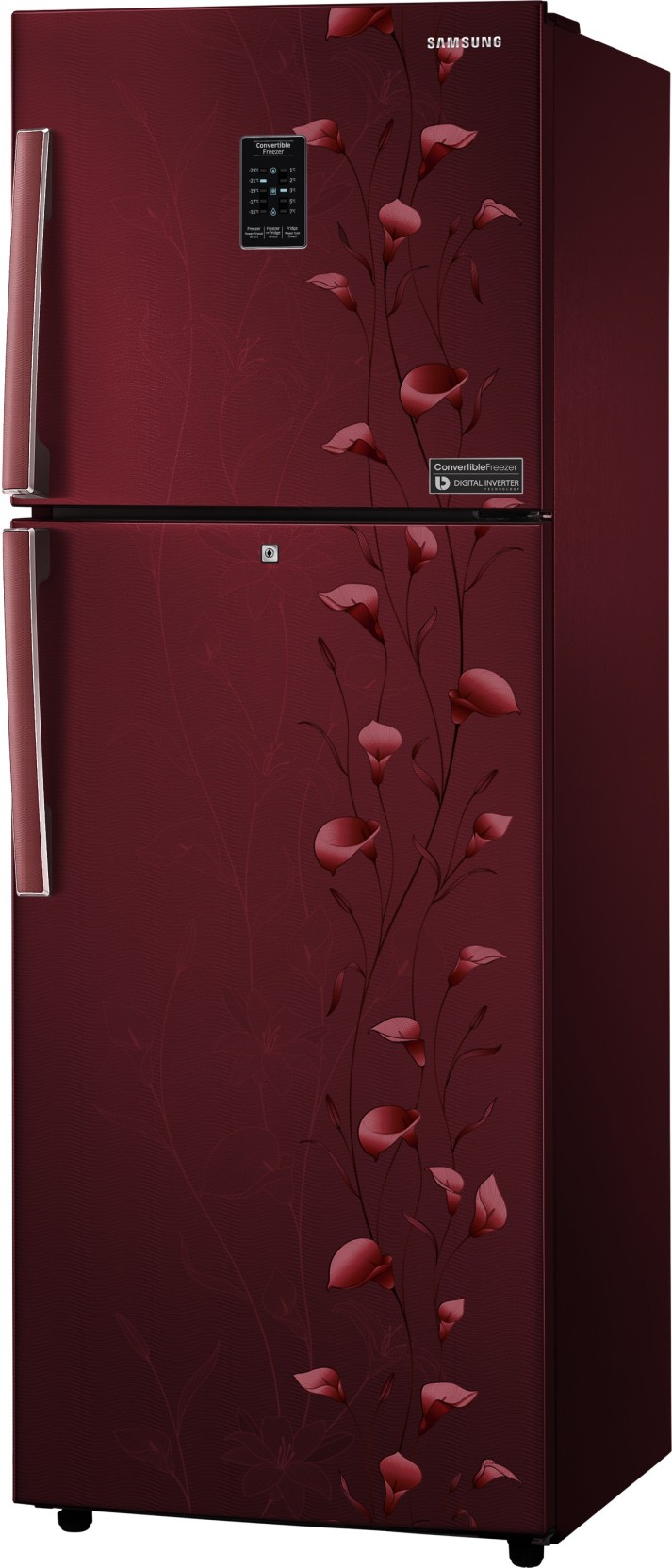 4115f842b7b Samsung 253 L Frost Free Double Door 2 Star Refrigerator (Tender Lily Red