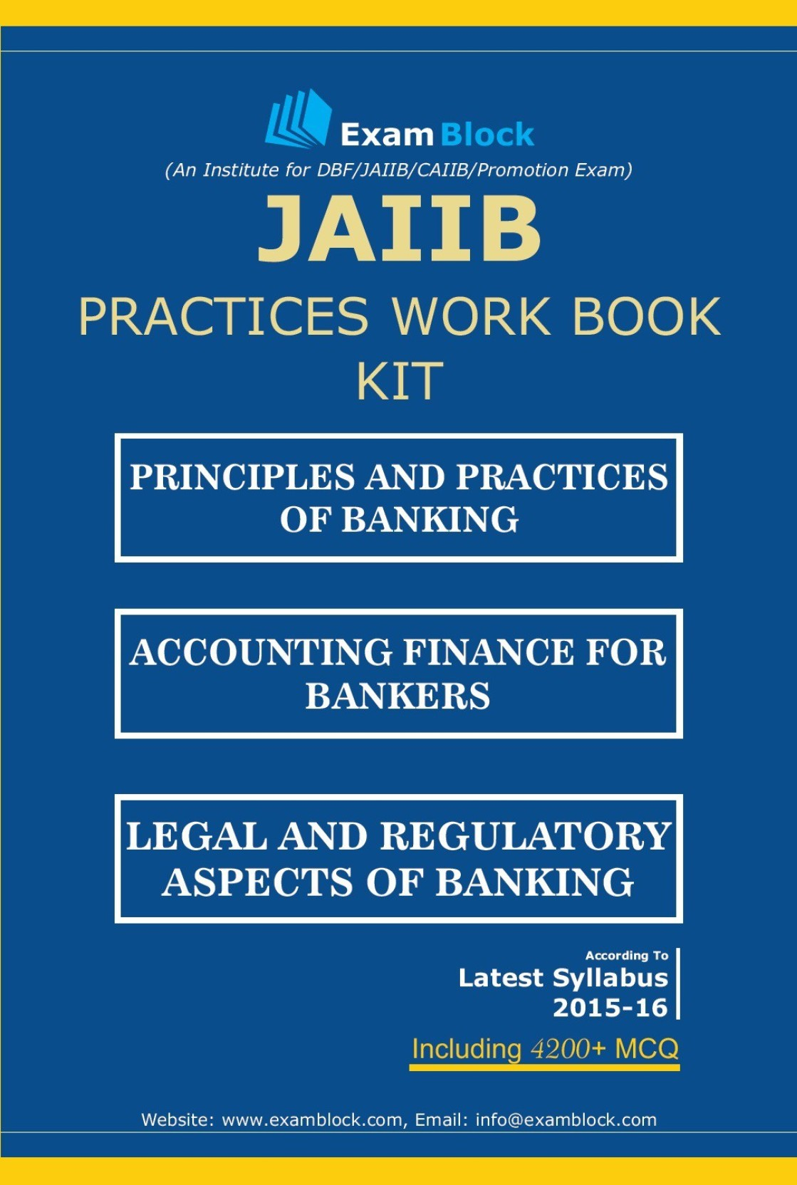 Workbooks jaiib workbook : JAIIB Practices Work Book Kit | Buy JAIIB Practices Work Book Kit ...