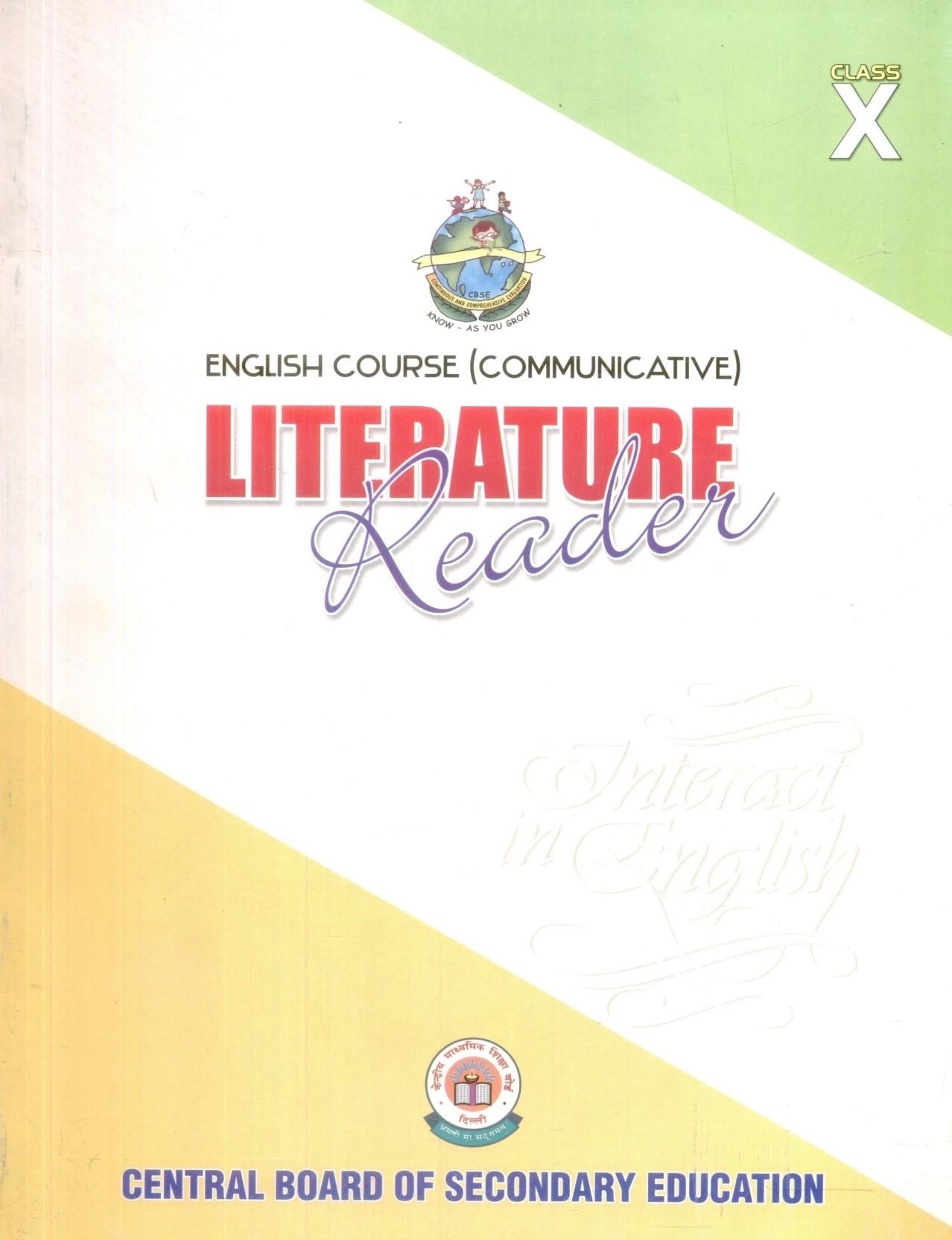 English Course Communicative: Literature Reader (Class - 10). Home