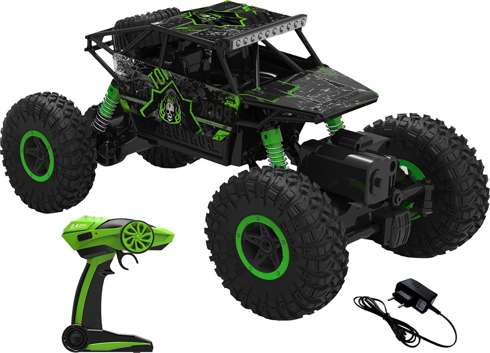 Green Monster Truck Toy : Saffire ghz remote controlled rock crawler rc monster