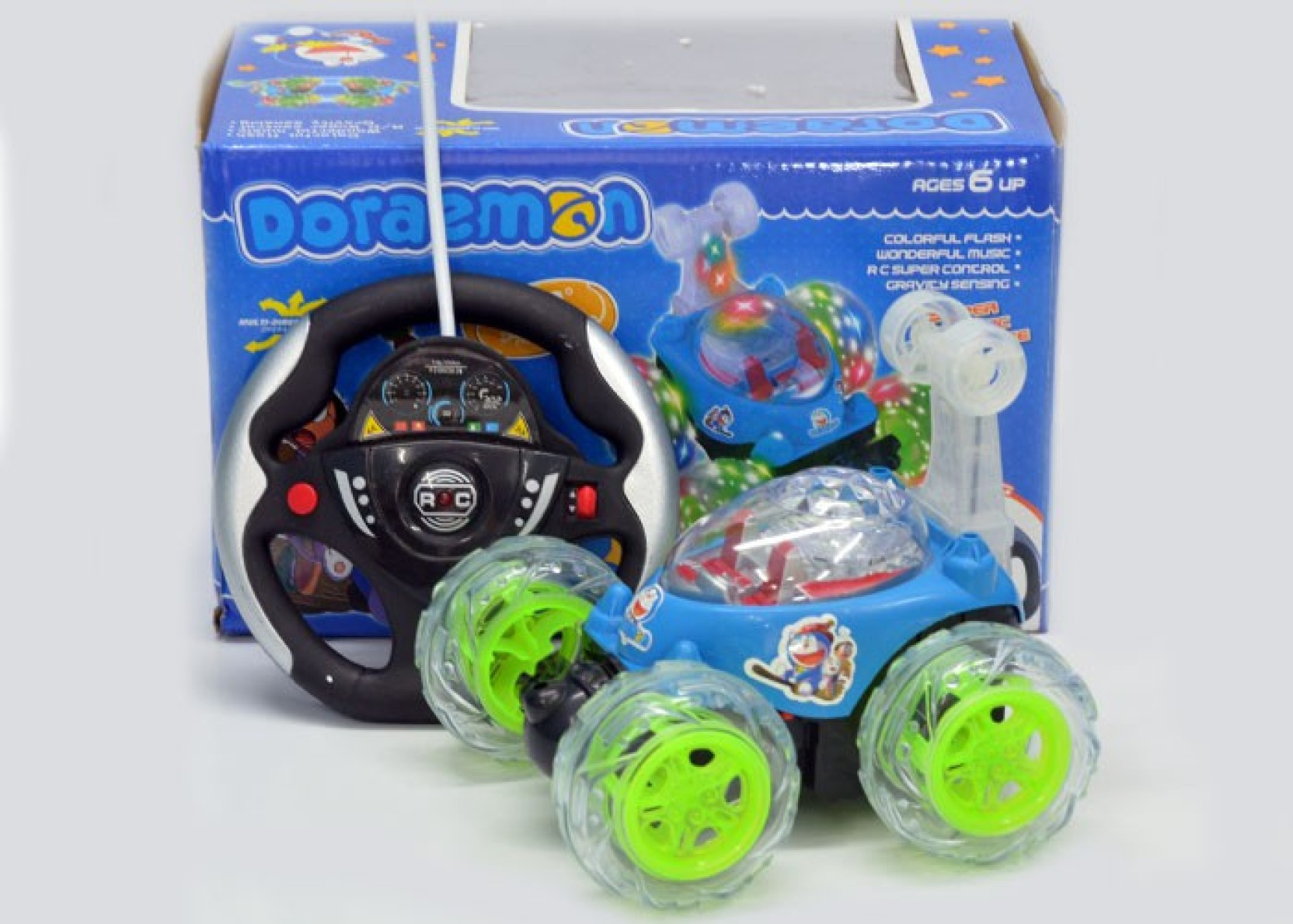 Doraemon Gravity Control Steering Stunt Car Remote Circuit Best Kids Toys Share