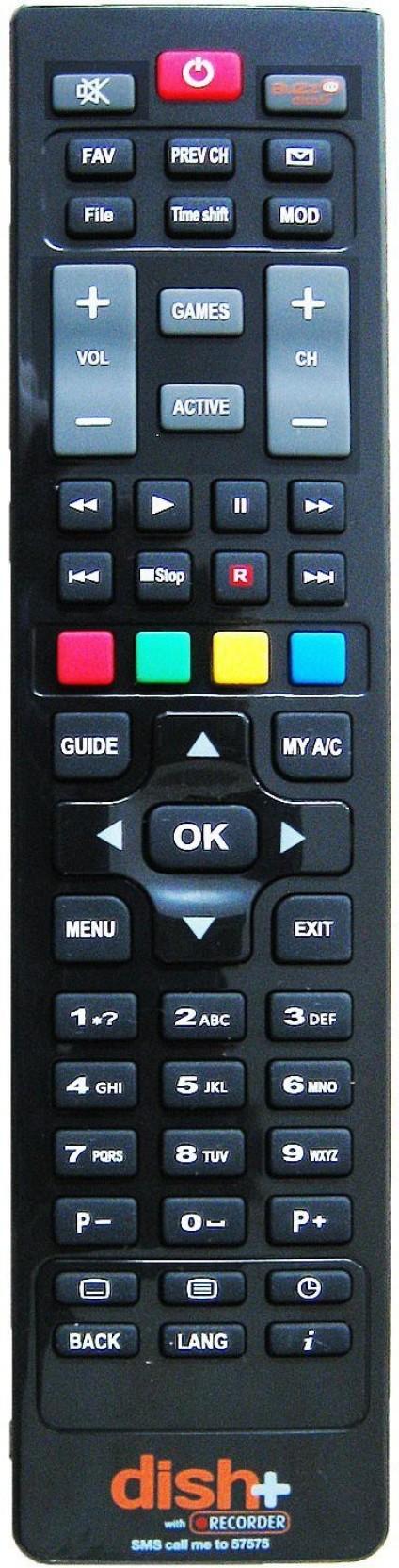 Dish Tv Original HD Plus Remote Controller