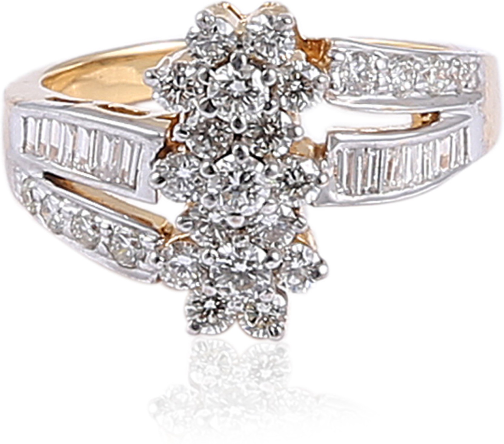 Jisha 14kt Diamond Yellow Gold ring Price in India Buy Jisha 14kt
