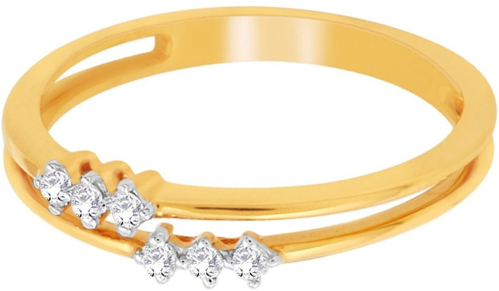 D\'damas 18kt Diamond Yellow Gold ring Price in India - Buy D\'damas ...