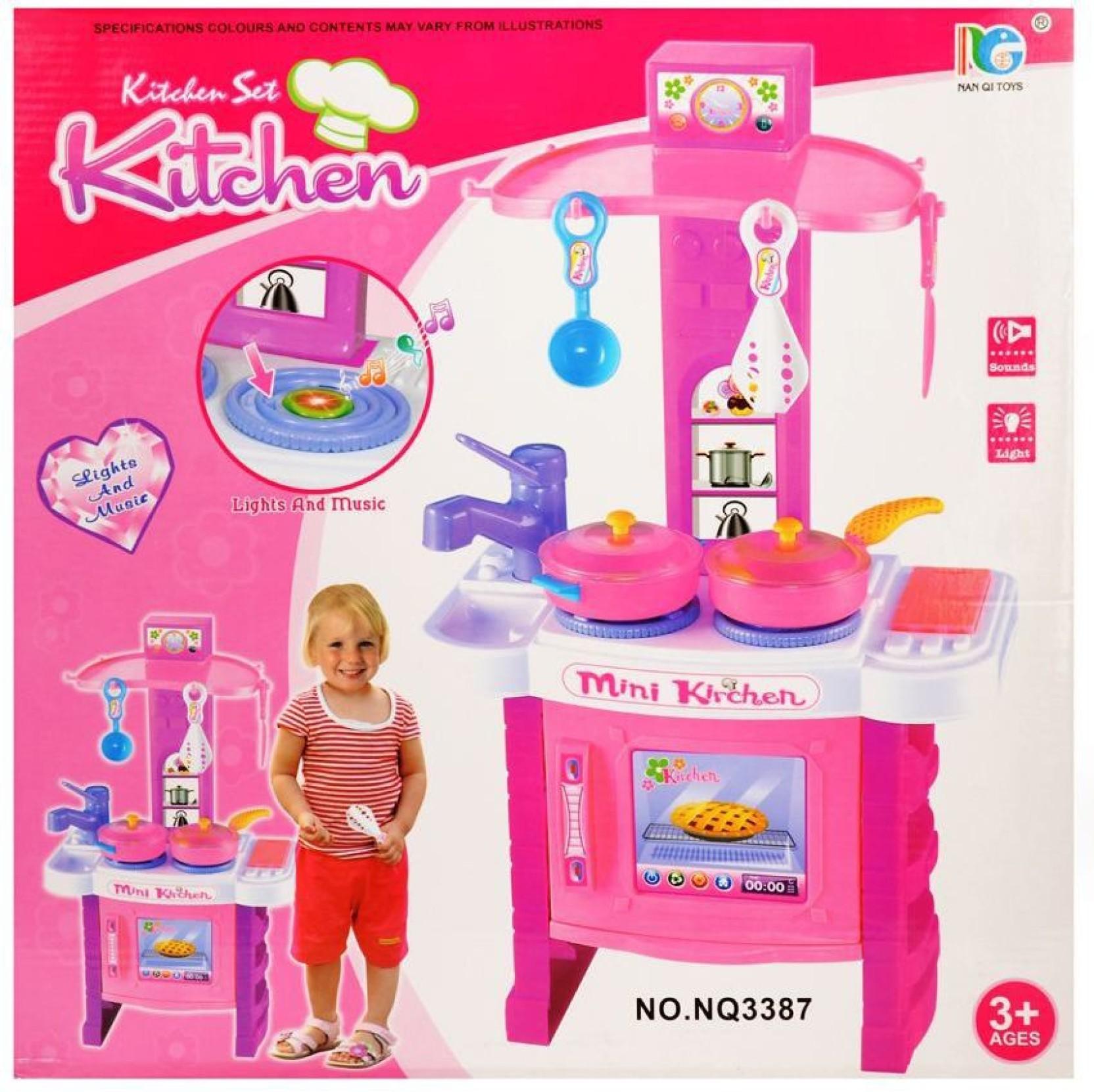 Mk enterprises kitchen set with light and sound home