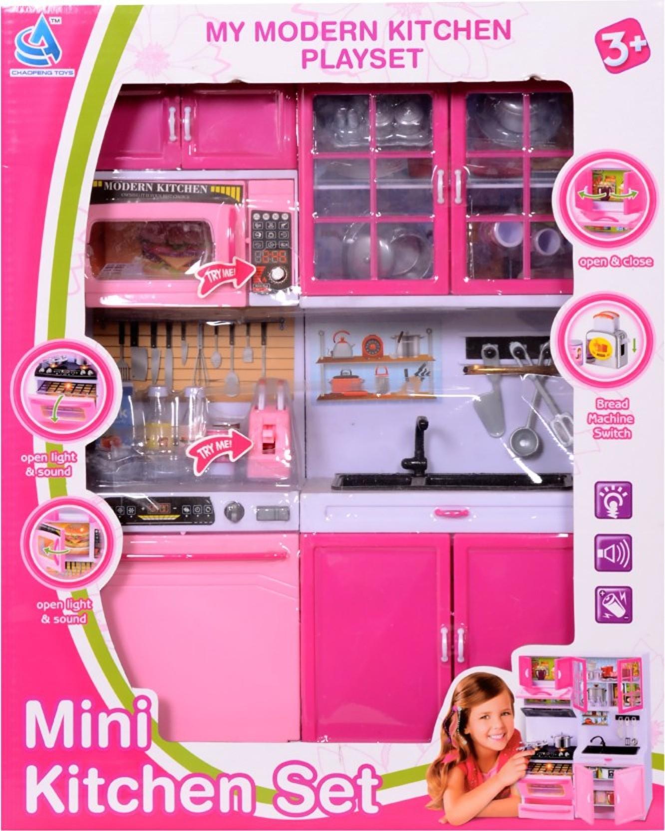Montez modern mini kitchen play set home