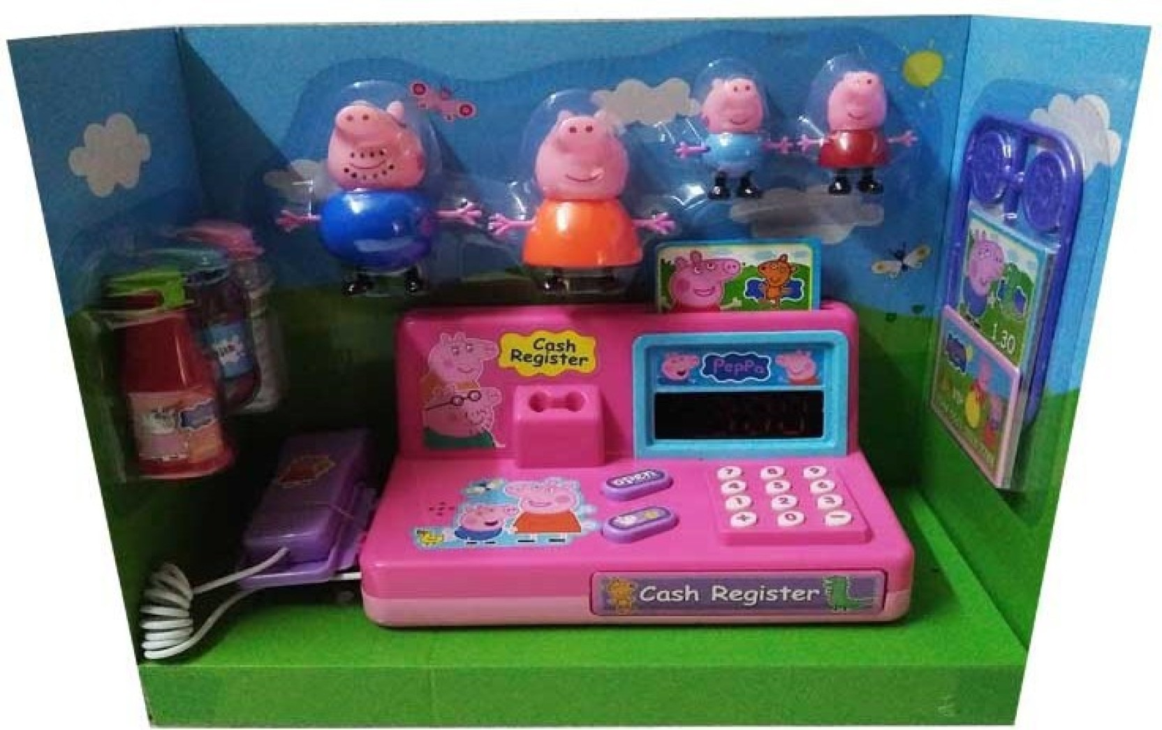 Kiditos Peppa Pig 4 Pcs Figure with Cash Register Machine ...