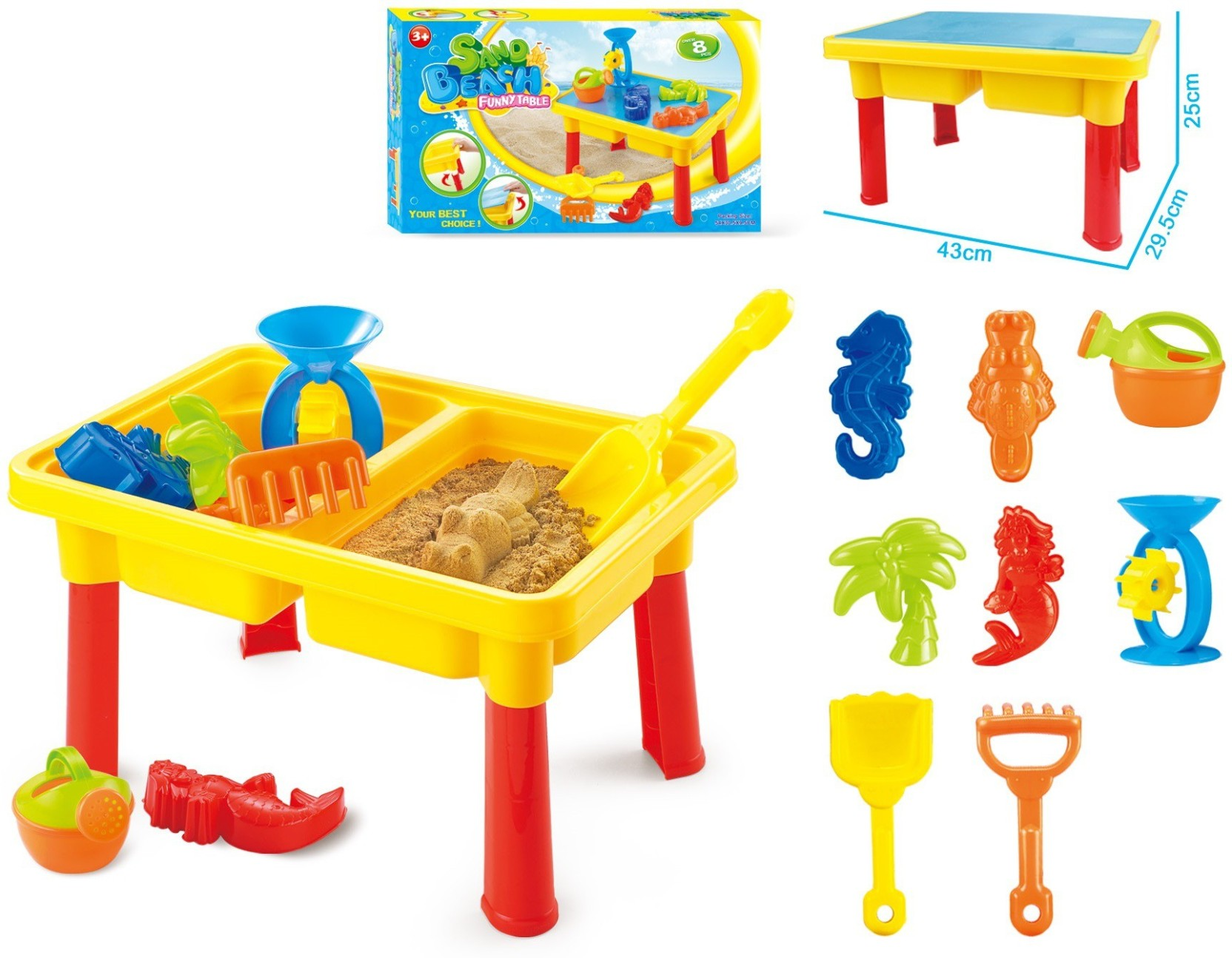 Toys Bhoomi 2 in 1 Beach Sand & Water Play Table for Kids
