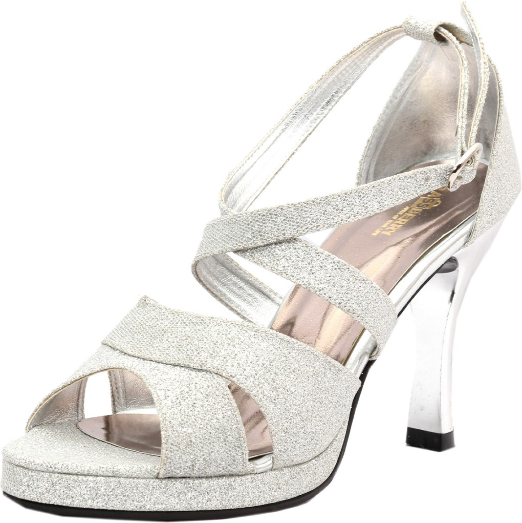 623ede5fce8 Rassberry Women Silver Heels - Buy Silver Color Rassberry Women ...