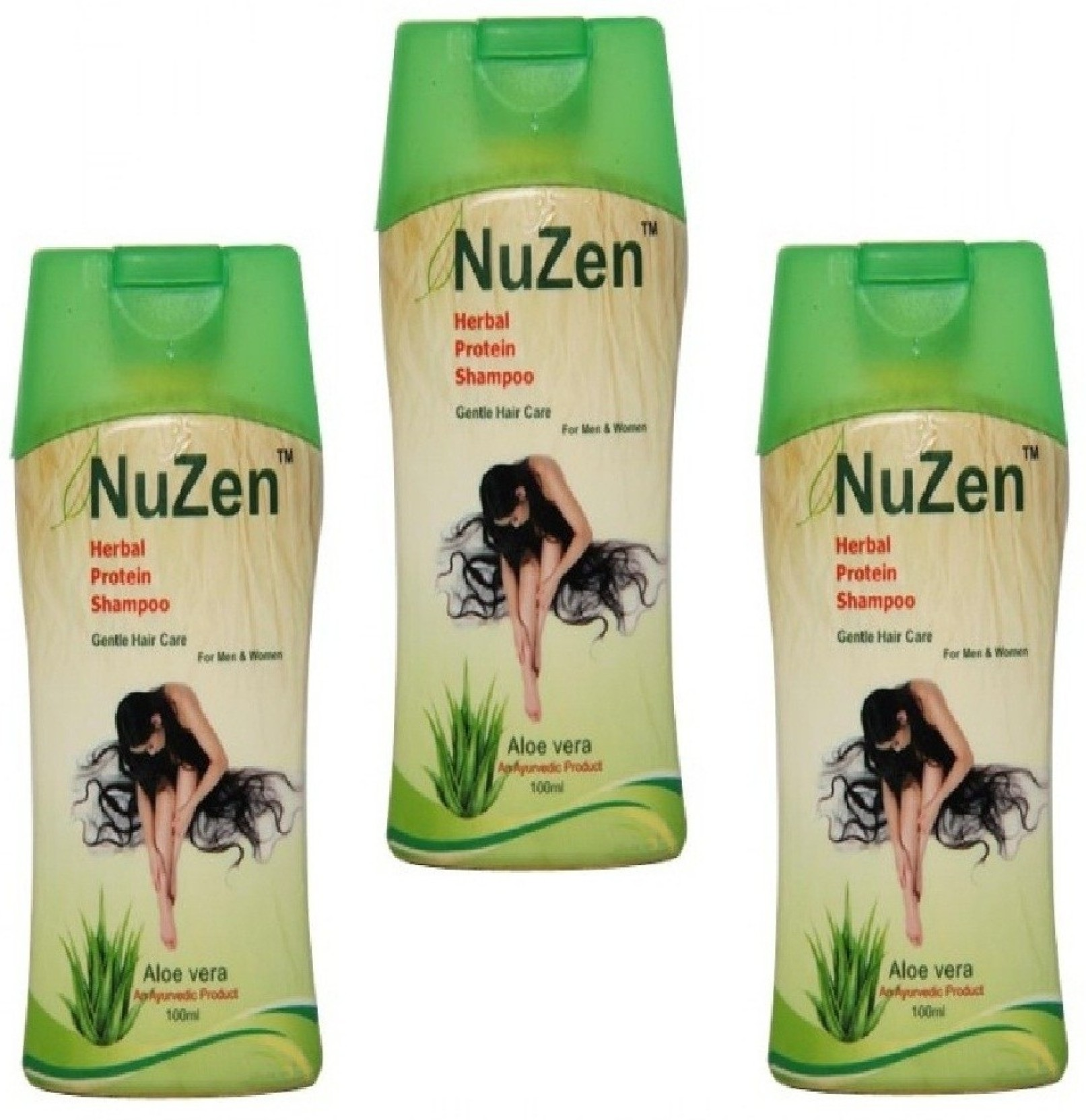 Nuzen Herbal Protein Shampoo (Pack of 3) - Price in India