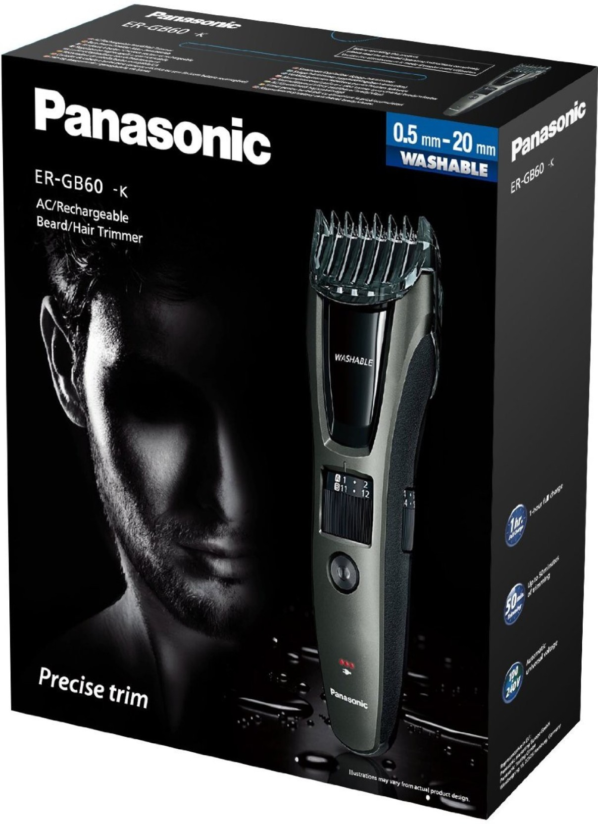 panasonic er gb60 k trimmer for men panasonic. Black Bedroom Furniture Sets. Home Design Ideas