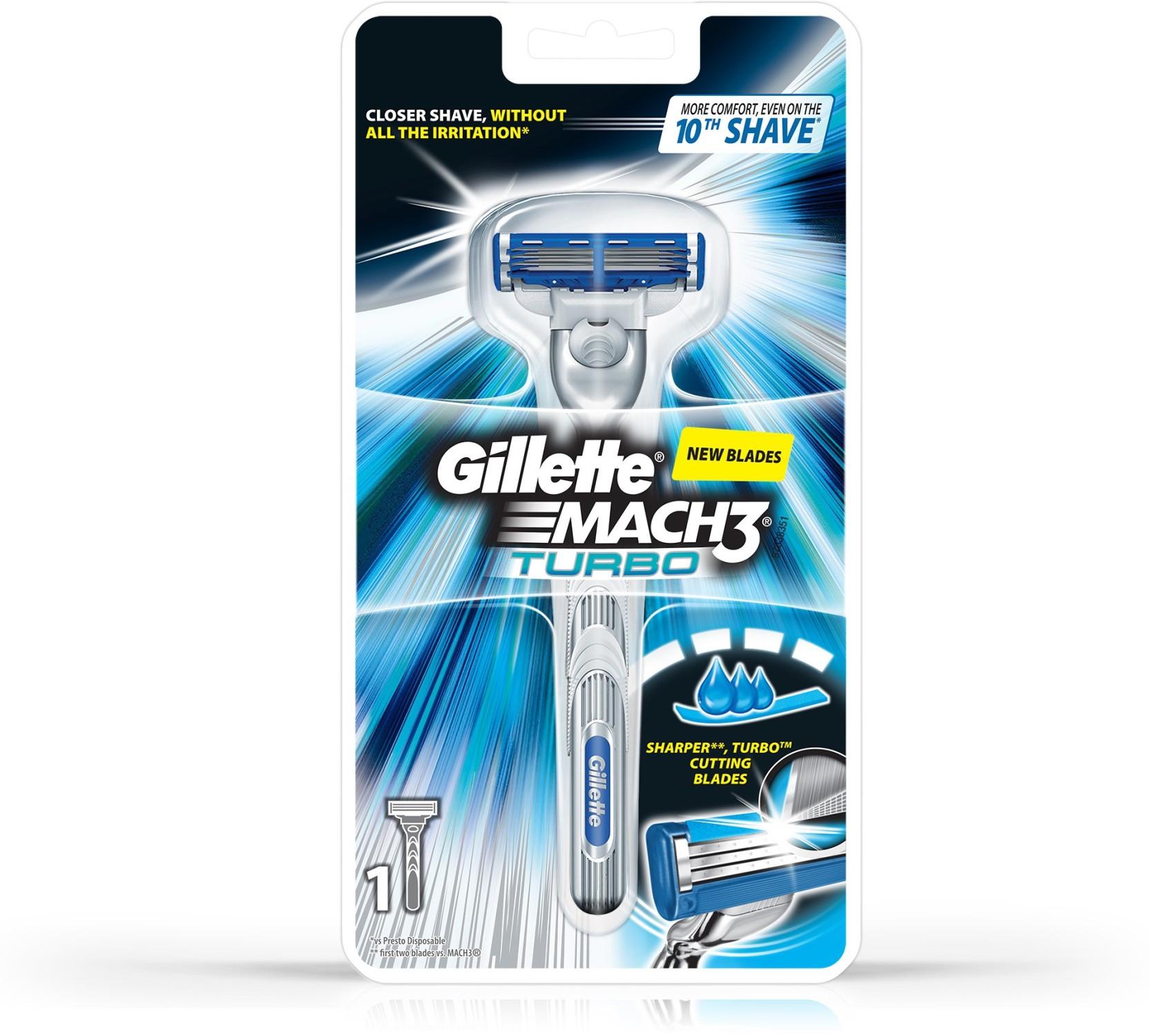 Gillette Mach 3 Turbo Razor Price In India Buy Gillette