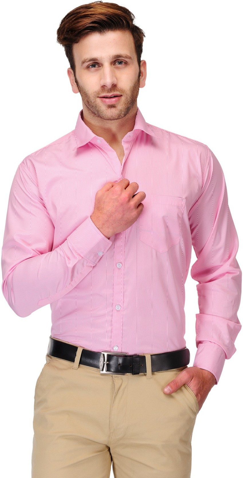 koolpals men striped formal pink shirt buy pink koolpals