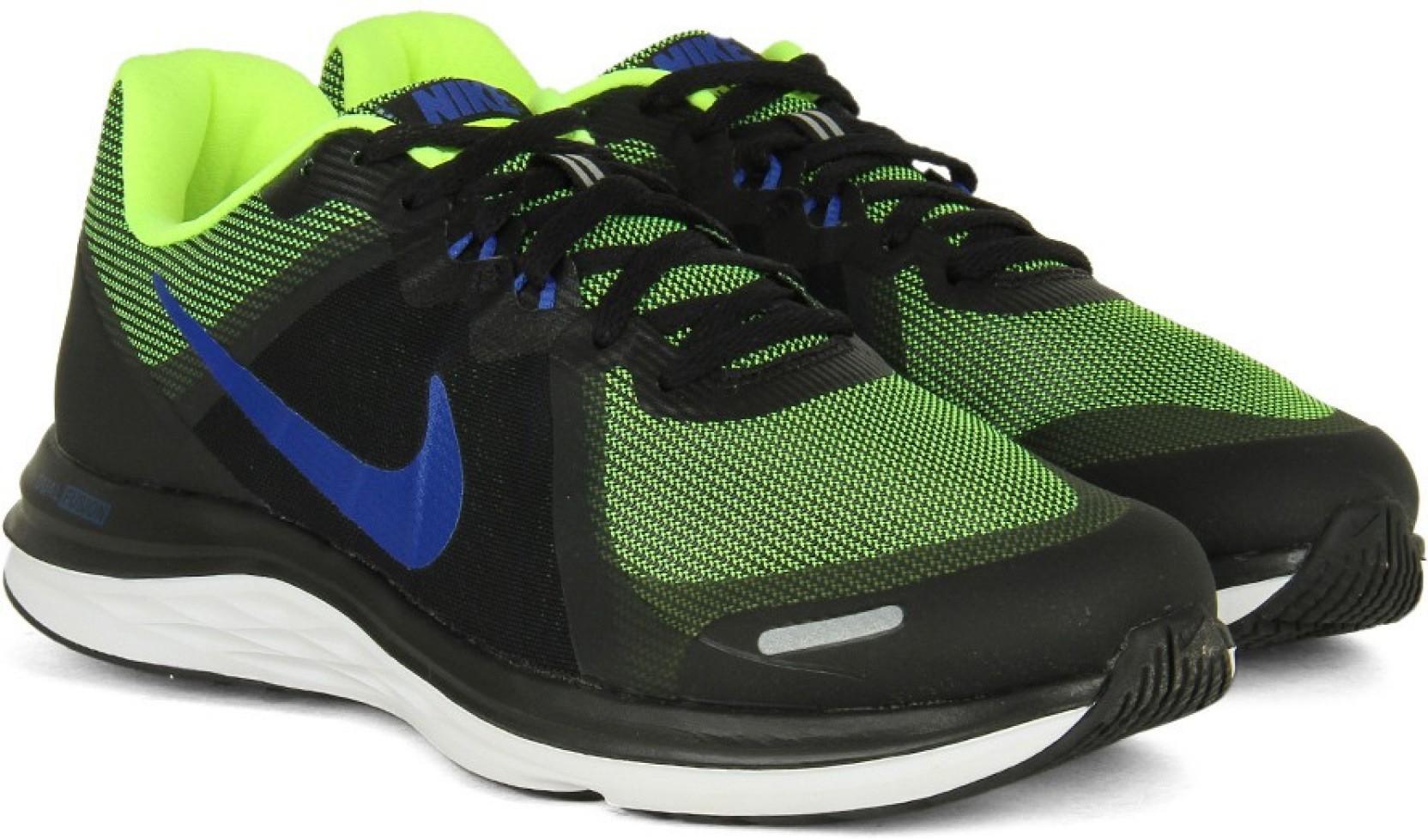 reputable site 2411e 8068c Nike DUAL FUSION X 2 Men Running Shoes For Men (Black, Blue, Green)
