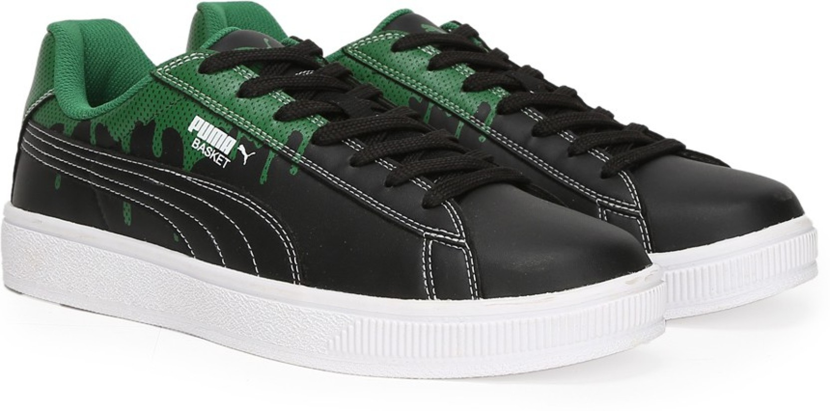ffb077dd1e6 Puma Basket City DP Sneakers For Men - Buy Puma Black-Amazon Green ...