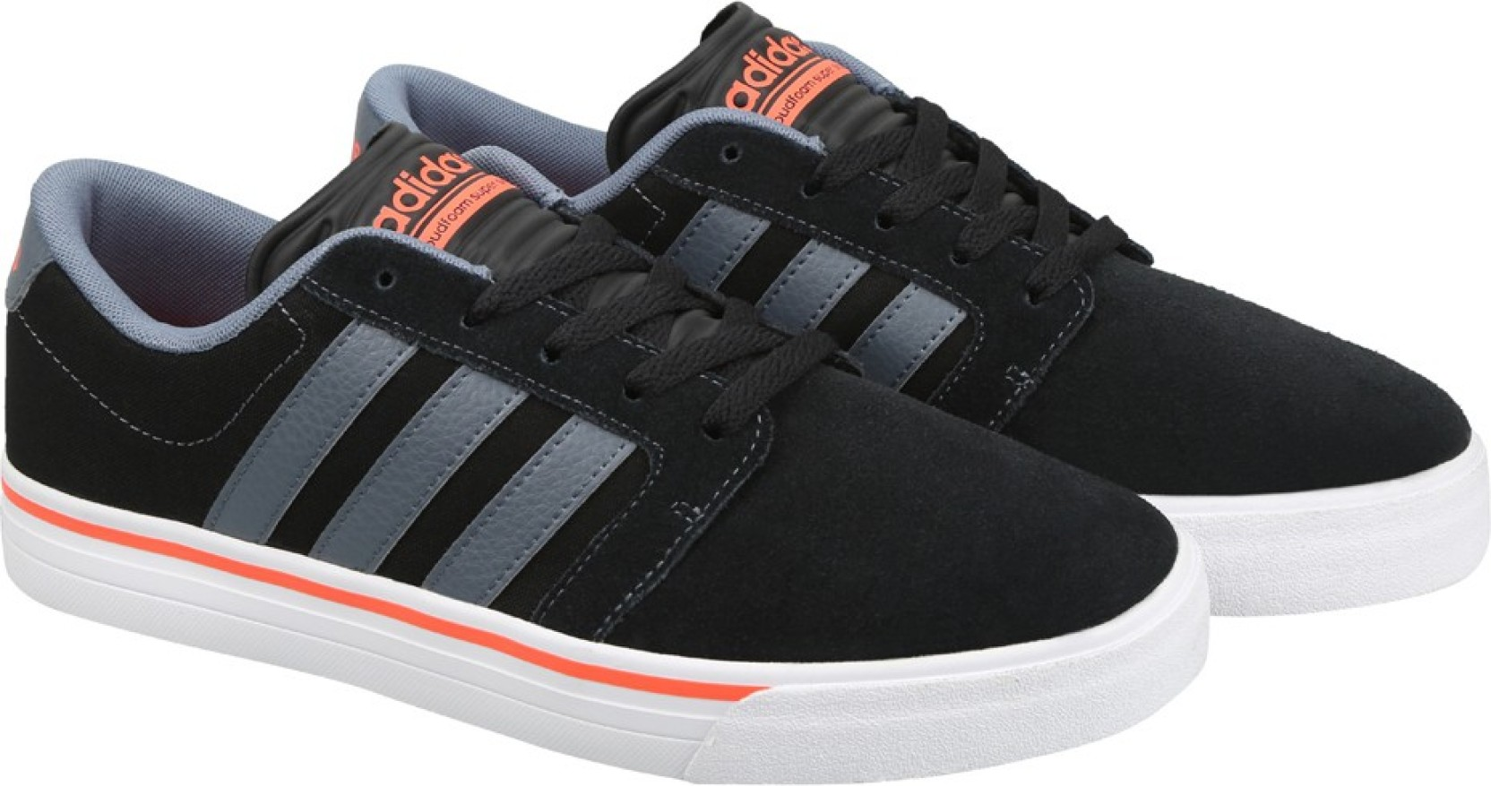 quality design 1250b e5506 Adidas Neo Shoes Black And Orange ADIDAS NEO CLOUDFOAM SUPER SKATE Sneakers  For Men.