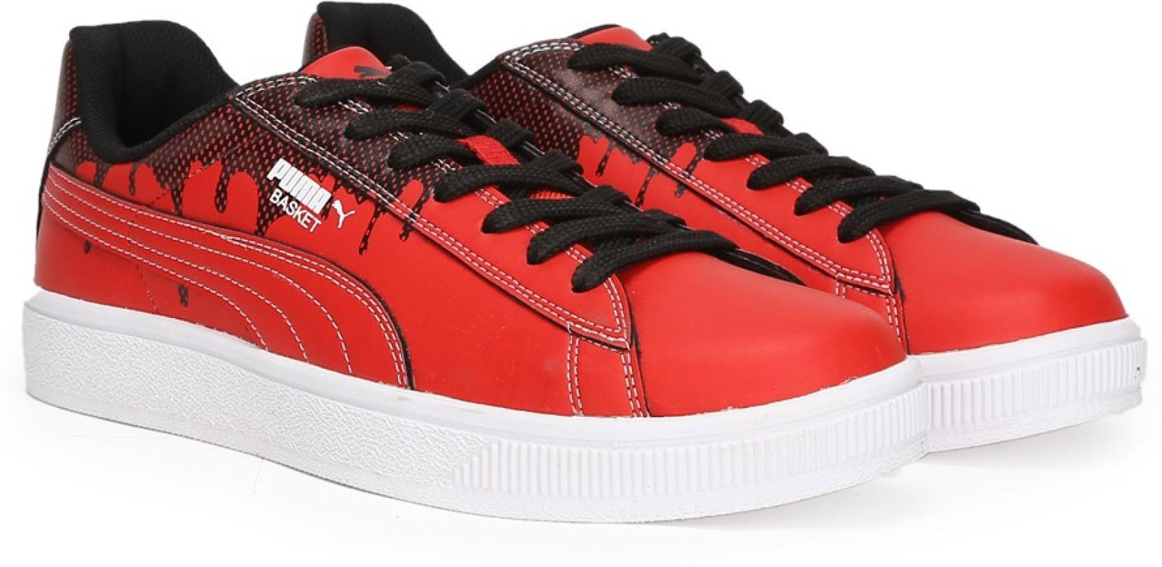 7c6be130b6e Puma Basket City DP Sneakers For Men - Buy High Risk Red-Puma Black ...