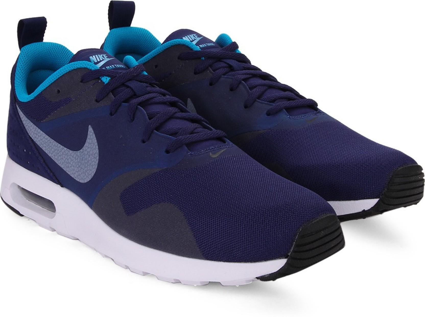 110c5fc3e9f1 ... coupon code for nike air max tavas running shoes for men blue black  c73ed e72fc