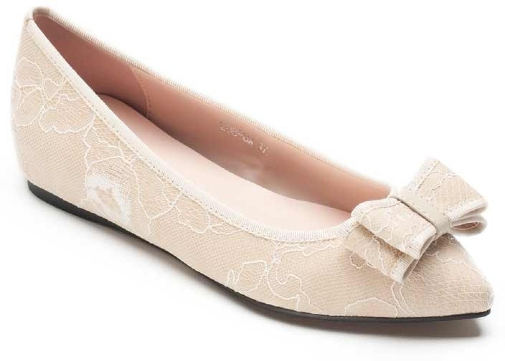 88ac1cbb6b5d47 Heel   Buckle Pazzion Pointed Toe Bellies For Women - Buy Beige ...