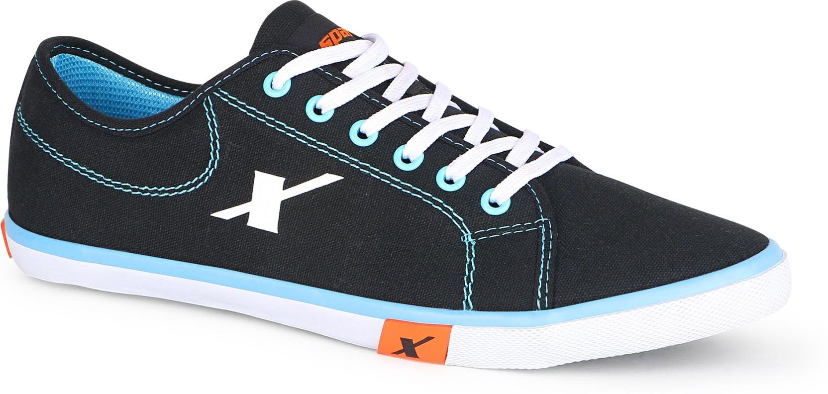 sparx 283 canvas shoes buy blackskyblue color sparx 283