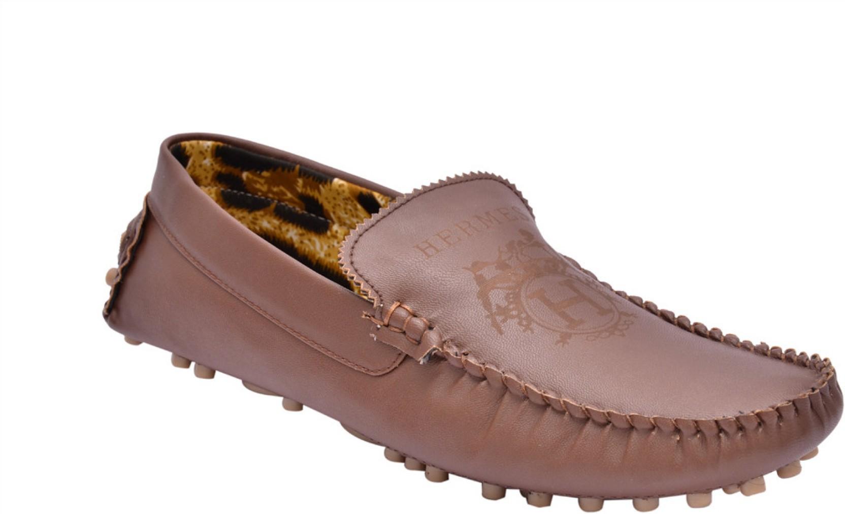 Fentacia Hermes Loafers - Buy Brown Color Fentacia Hermes Loafers Online At Best Price - Shop ...