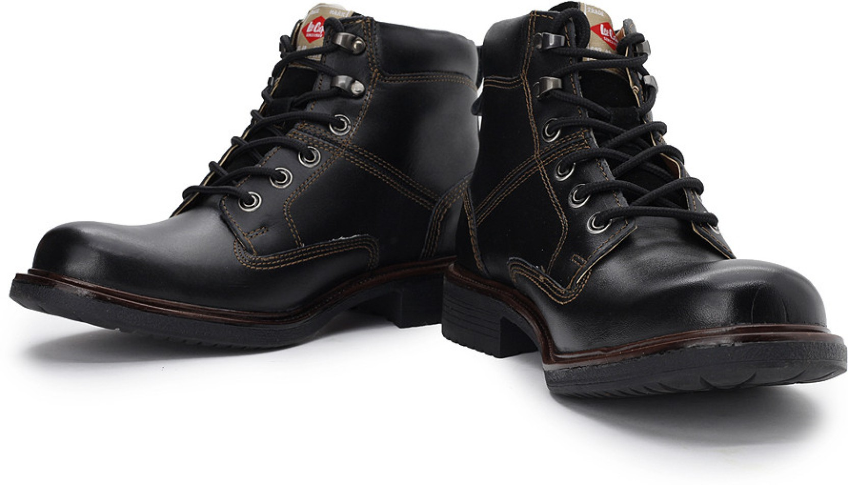 Lee Cooper Men Boots - Buy Black Color Lee Cooper Men ...