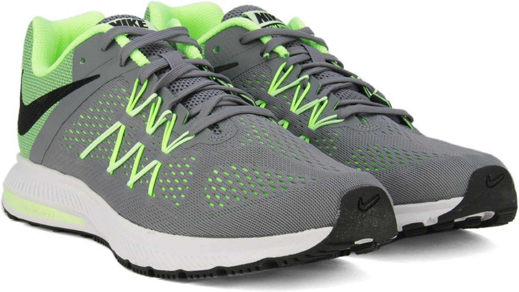 0d8bc4624608 ... shop nike zoom winflo 3 running shoes for men green grey 8dbe0 2785f
