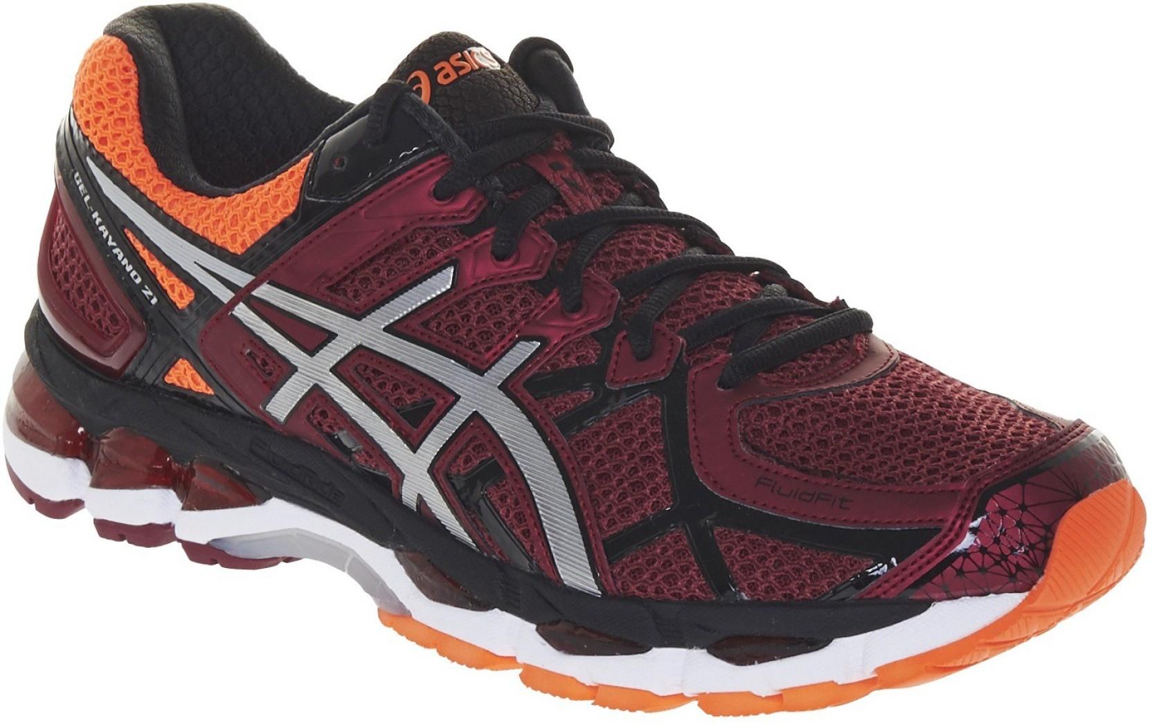 online store 1bc92 4a629 Asics Gel-Kayano 21 Men Running Shoes For Men (Maroon, Silver, Orange)