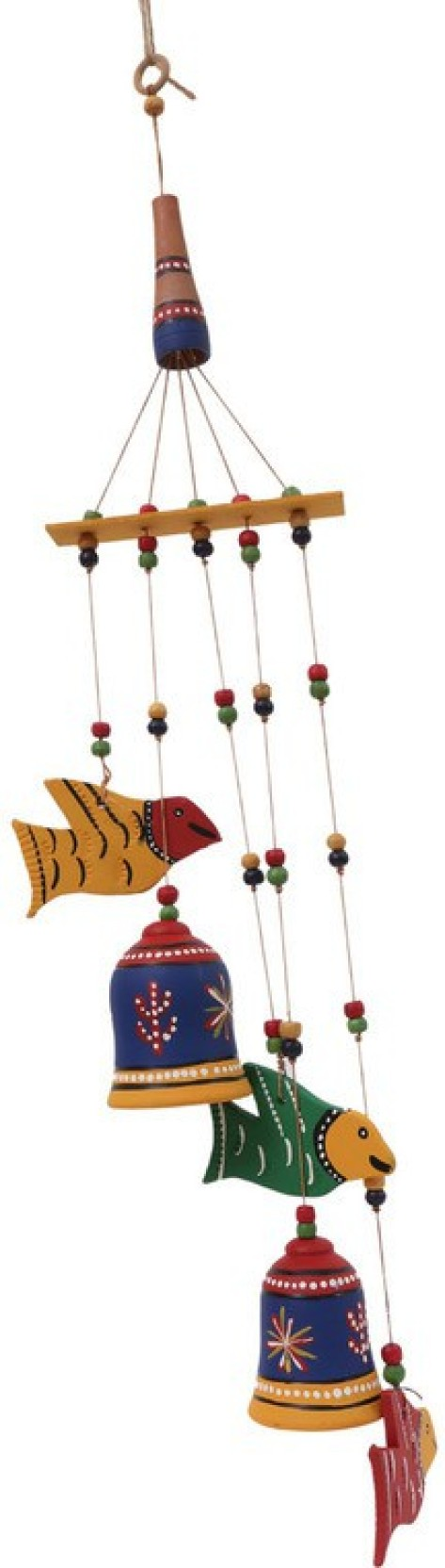 Terracotta Bell Fish Wind Chime