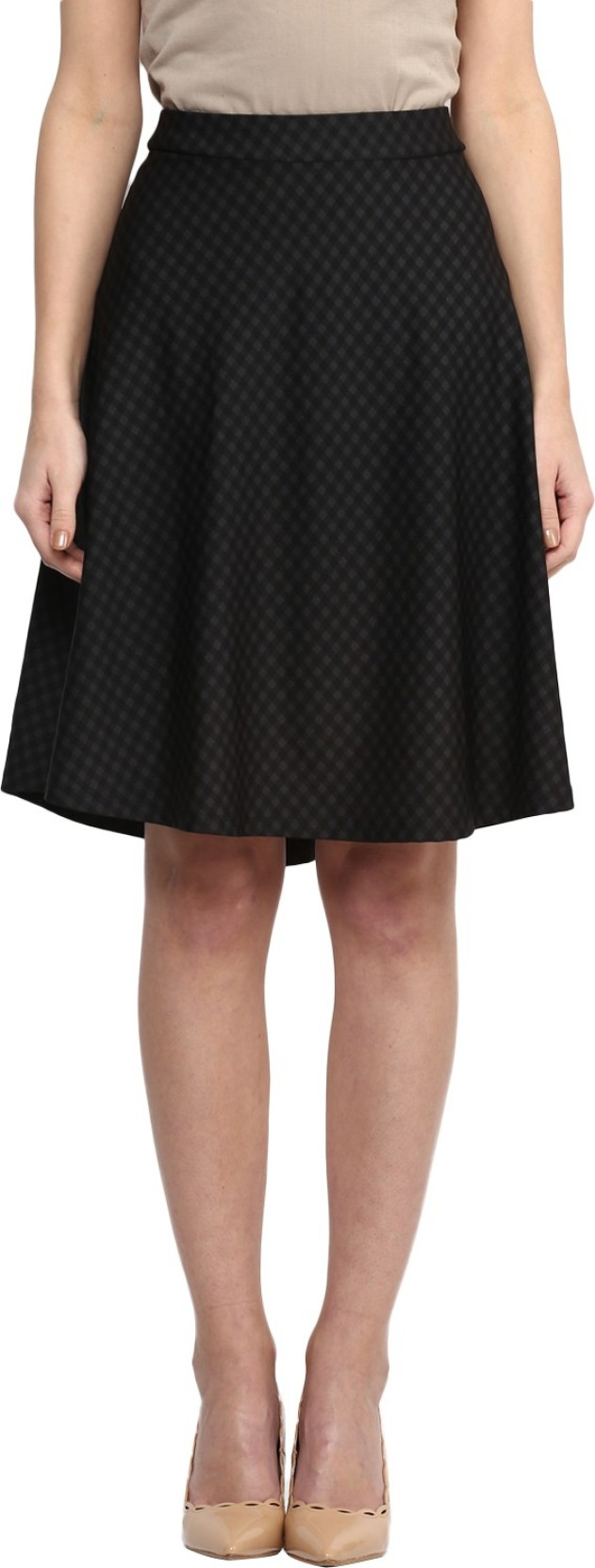 f972de990050 Annabelle by Pantaloons Self Design Women's Gathered Black Skirt. ADD TO  CART