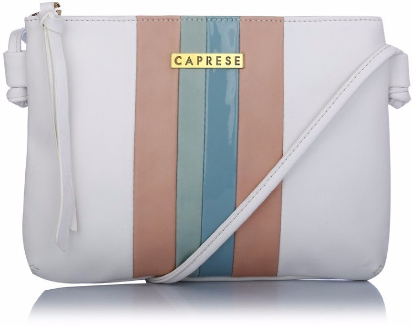 Caprese Women Casual White Leatherette Sling Bag Price In Fossil Tessa Satchel Blue Add To Cart