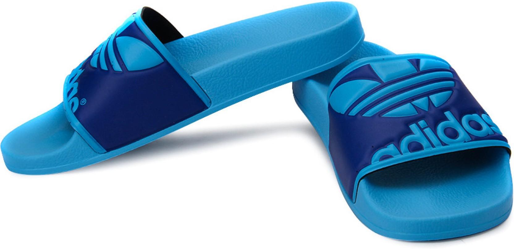 Adidas Originals Adilette Trefoil Flip Flops Buy Blue Color Sendal Original Home