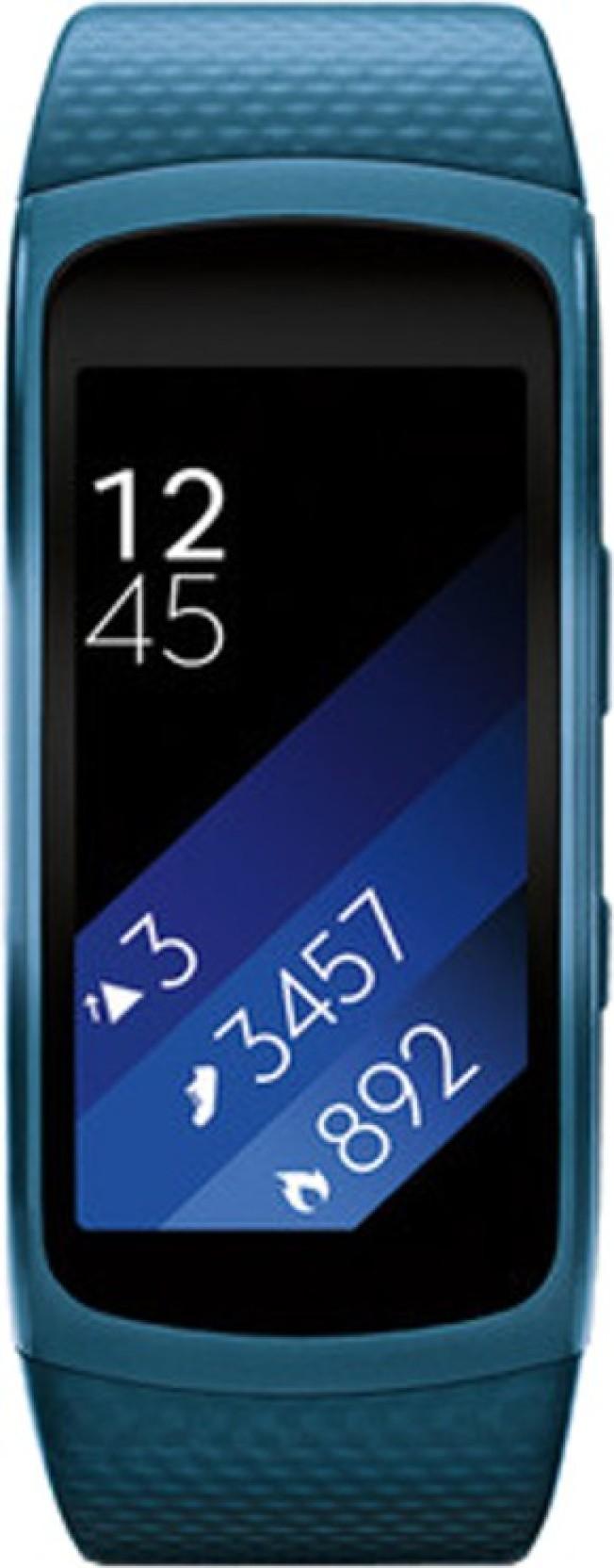 SAMSUNG Gear Fit 2 Blue Smartwatch(Blue)