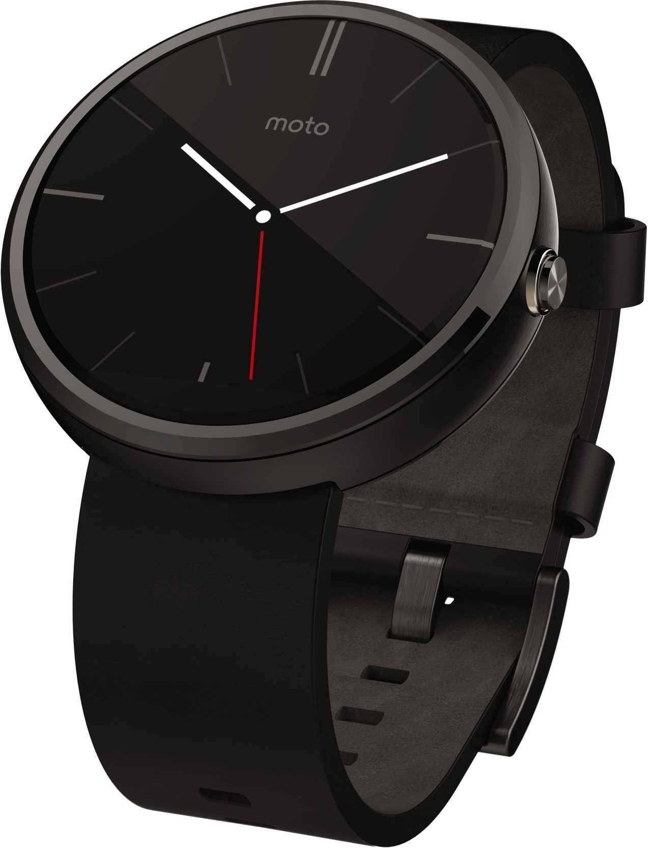 Motorola Moto 360 Black Leather Smartwatch Price in India ...