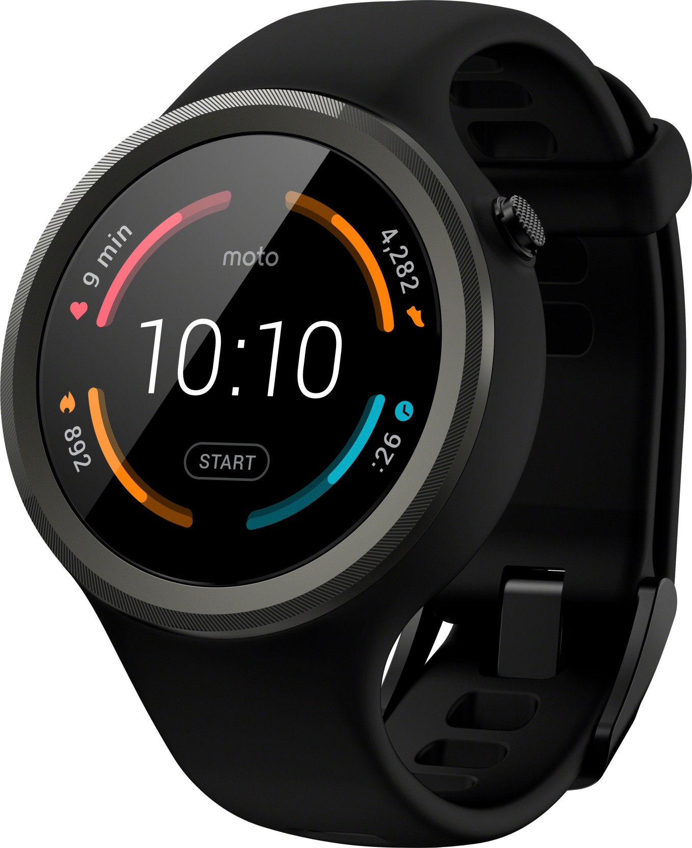 Motorola Moto 360 Sport Smartwatch (Black Strap Regular)