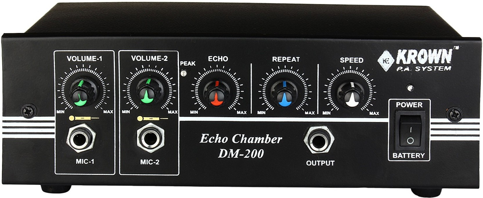 Krown Dm 200 2 Channel Echo Chamber Effect Processor Analog Sound Stereo Mixer For Microphone With Channels Home