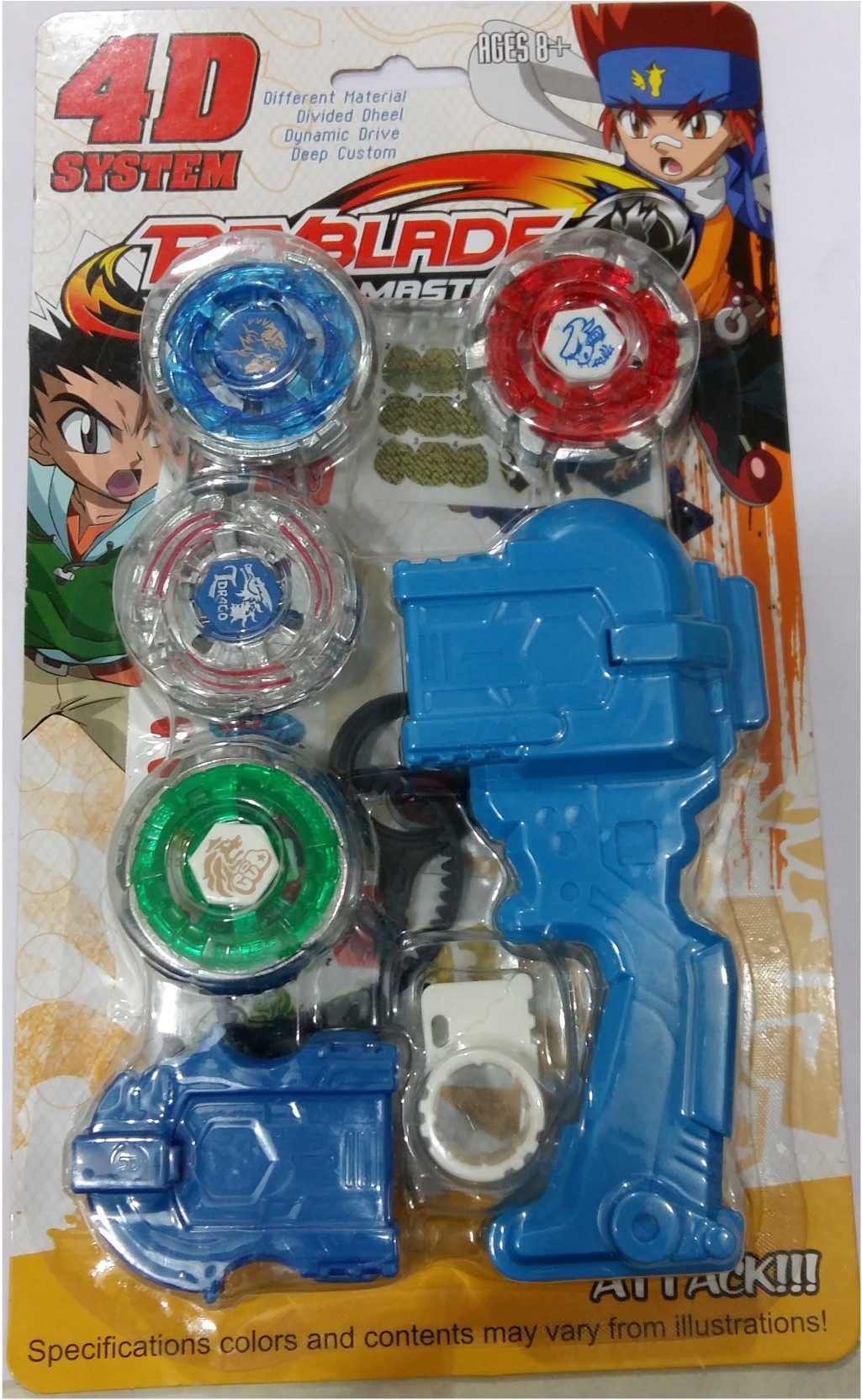 beyblade 4d system metal masters fury with handle launcher