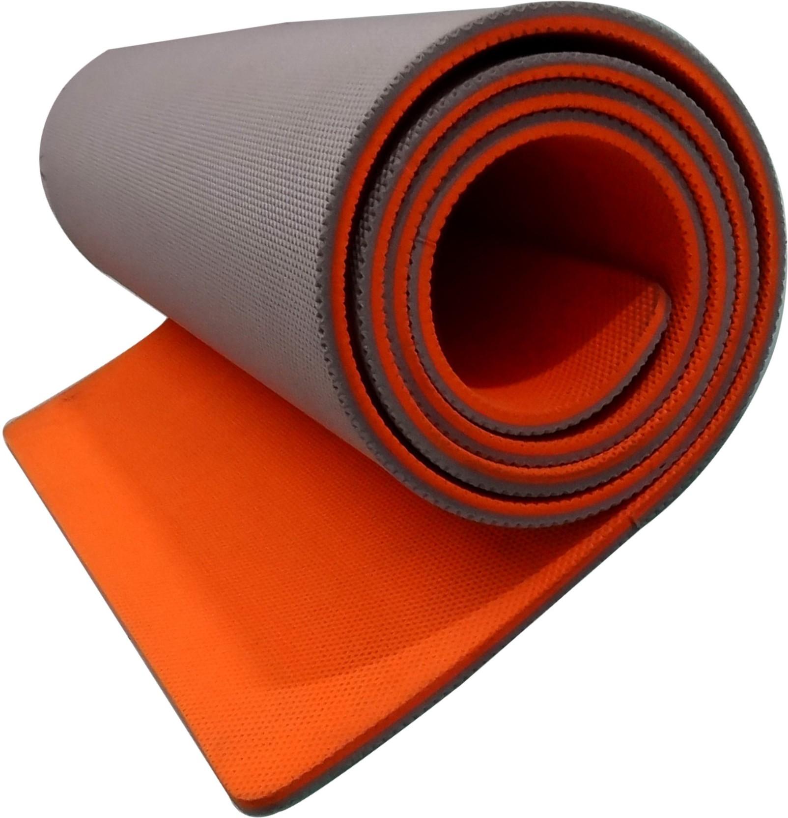 Aerolite Double Colour 36 X 78 Orange, Grey 10 Mm Yoga Mat